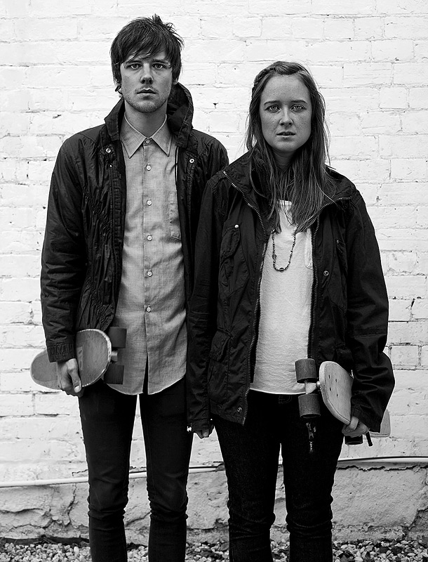Daniel Whitechurch and Laura McKellar, Fitzroy, Melbourne, Australia, 2009 by Nikki Toole