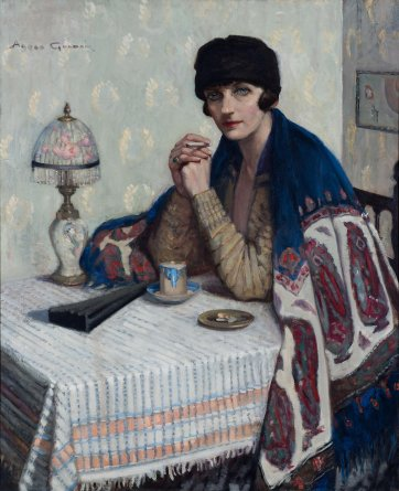 Girl with cigarette (Rachel Dunn), c.1925 Agnes Goodsir. Bendigo Art Gallery, Bequest of Mrs Amy E Bayne 1945