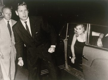 Anita Ekberg and Husband Anthony Steel Vecchia Roma 1958