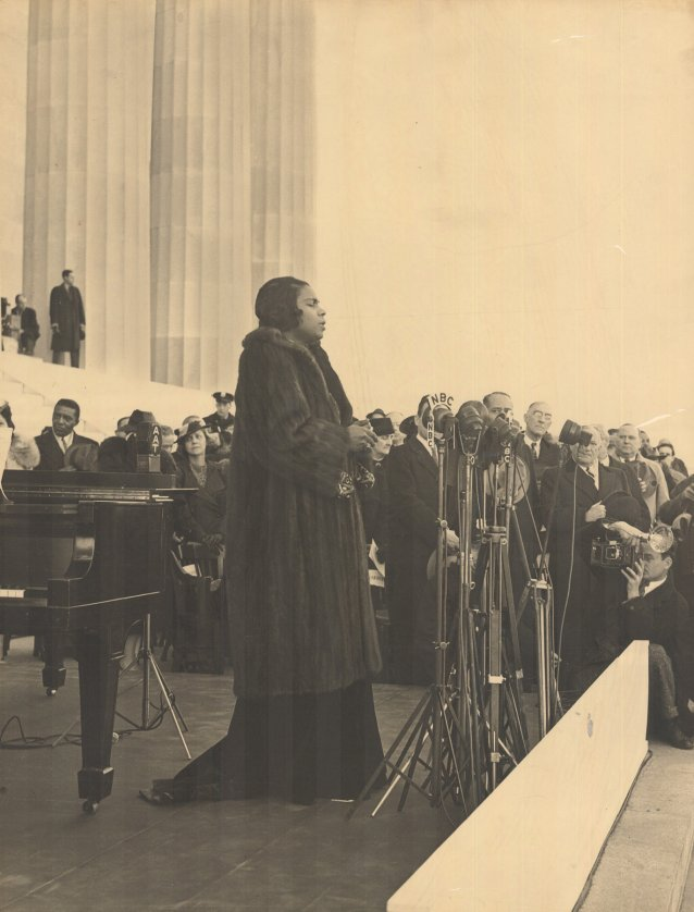 Marian Anderson at the Lincoln Memorial, 1939 Robert S Scurlock