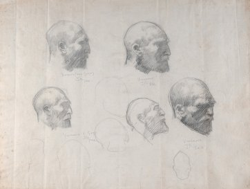 Five studies of Vincent van Gogh, c. 1886–8