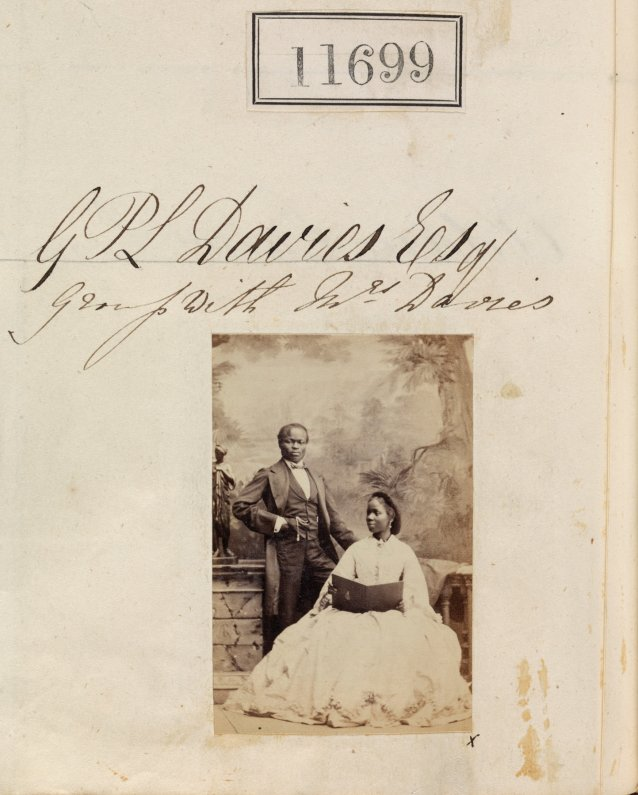 Sarah Davies (formerly Forbes Bonetta) and James Pinson Labulo Davies, 1862 by Camille Silvy