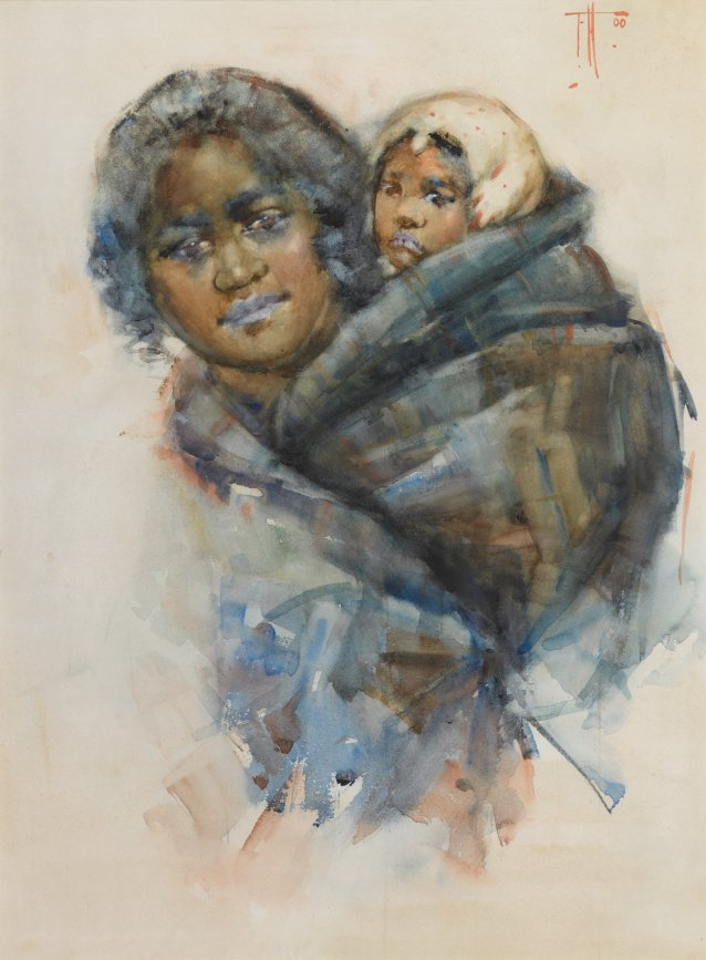 Maori Woman and Child, 1900 by Frances Hodgkins