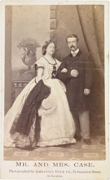 Mr and Mrs Case, 1864 by Alexander Fox and Co
