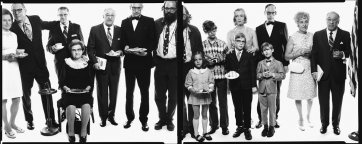 Allen Ginsberg's family: Hannah (Honey) Litzby, aunt: Leo Litzby, uncle; Abe Ginsberg, uncle; Ann Ginsberg, aunt; Louis Ginsber, father; Eugeno Brooks, brother; Allen Ginsberg, poet; Anne Brooks, niece; Peter Brooks, nephew; Connie Brooks, sister-in-law;  by Richard Avedon