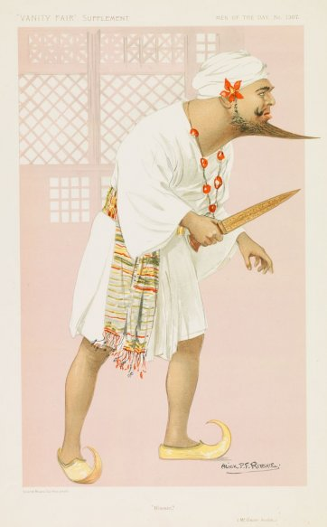 """Kismet"" (Thomas Oscar Asche) (Image plate from Vanity Fair), (1912-13) by Alick Ritchie"