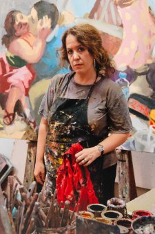 Wendy Sharpe in her studio, 2007 by Mark Tedeschi