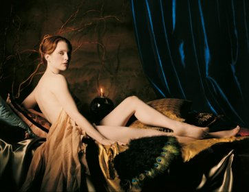 Julianne Moore as Ingres's 'Grand Odalisque', New York City, by Michael Thompson, 2000 publ. April 2000.