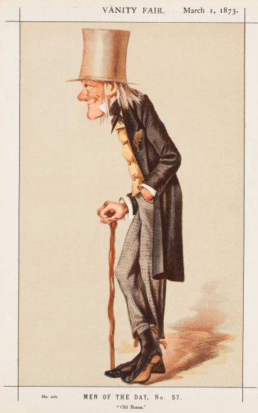 "Men of the Day No. 57 ""Old Bones"" Sir Richard Owen (Image plate from Vanity Fair), 1873 by an unknown artist"