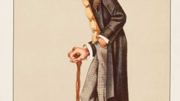 "Men of the Day No. 57 ""Old Bones"" Sir Richard Owen (Image plate from Vanity Fair), 1873 an unknown artist"