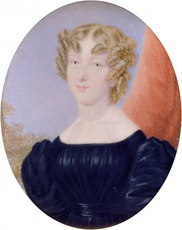 Mrs Elizabeth Lewis, c. 1830 by an unknown artist