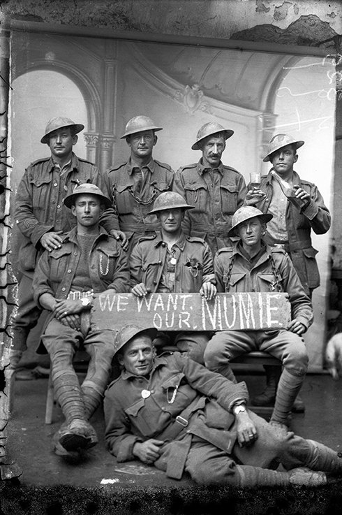 Soldiers from the Australian 2nd Division in Vignacourt, France 1918 by Louis Thuillier