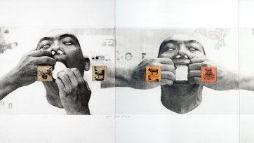 Open your mouth, 2002 by FX Harsono