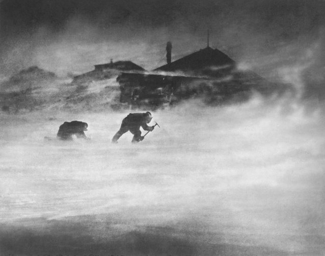 In the blizzard: getting ice for domestic purposes, c. 1911-1914 Frank Hurley