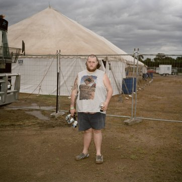 Brad 'Gaggsy' Gallagher at a Bachelor and Spinsters Ball, Tooradin, Victoria, 2016 by Ingvar Kenne