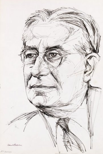 Lord Florey, n.d. by Louis Kahan