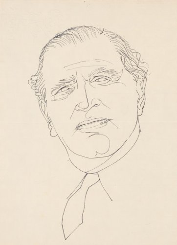 Sir Frank Packer by Louis Kahan