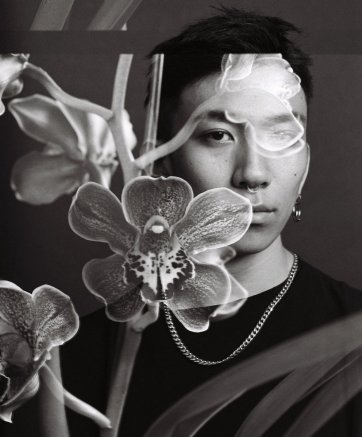 Lyu with orchid, 2017 by David Rosetzky