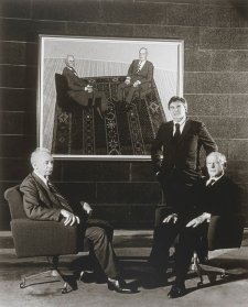 Painter John Brack with Professor Alex Mitchell and Sir Garfield Barwick, c.1977 Jozef Vissel