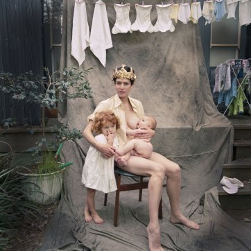 Crowned Madonna with kids, 2013 by Fiona Wolf-Symeonides