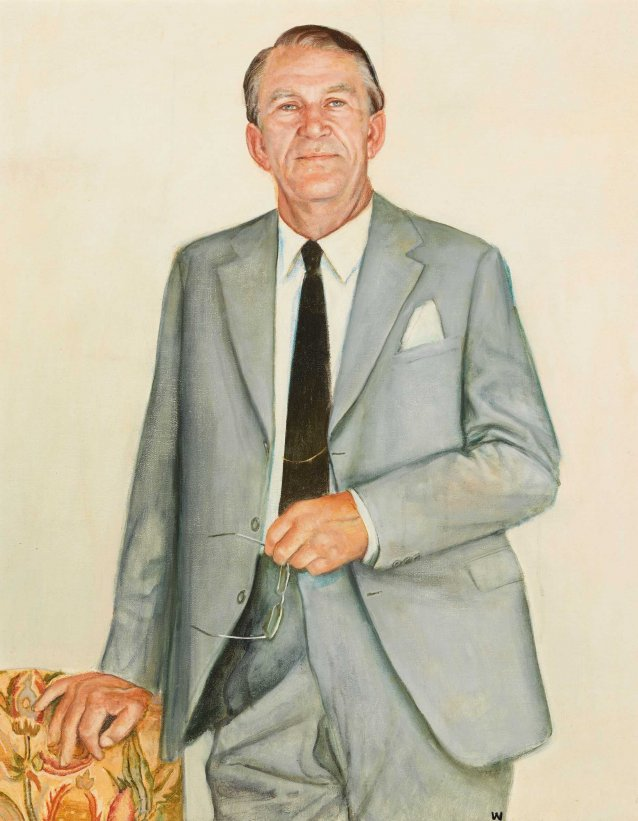 First study for portrait of Malcolm Fraser