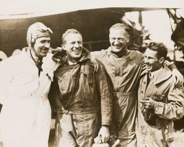 Charles Kingsford Smith and crew of the Southern Cross before the east-west crossing of the Atlantic, June 1930 by International News Photos Inc.