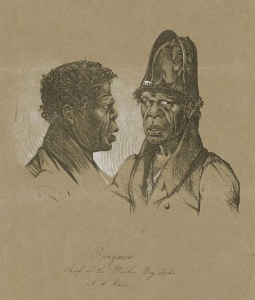 Bungaree, Chief of the Broken Bay Tribe, N S Wales, c.1830 by Charles Rodius