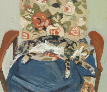 Emitt on the chair, 2001 by Lucy Culliton