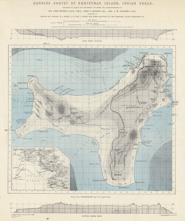 Running Survey of Christmas Island, Indian Ocean / prepared in August and September 1908 under the superintendence of Sir John Murray