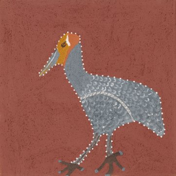 Nangala (the brolga), 2018 by Shirley Purdie