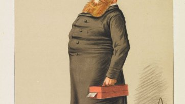"""A Returned Colonist"" Rt Hon. Hugh C.E. Childers (Image plate from Vanity Fair), 1869 by Carlo Pellegrini"