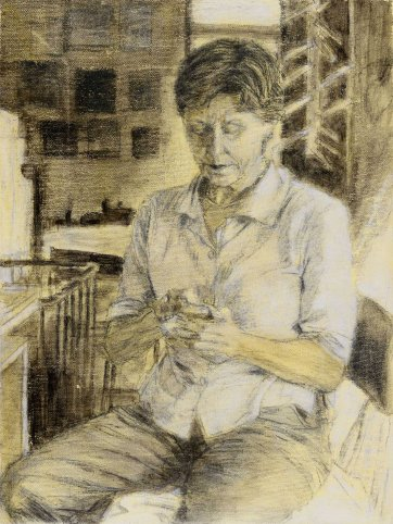 Study (a) for portrait of Helen Garner, 2003 Jenny Sages