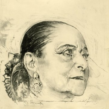 Study for portrait of Helena Rubinstein by Graham Sutherland