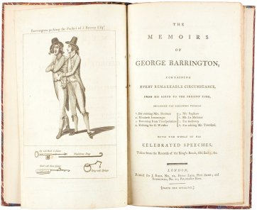 The Memoirs of George Barrington, 1790 by an unknown artist, J. Bird & Simmonds