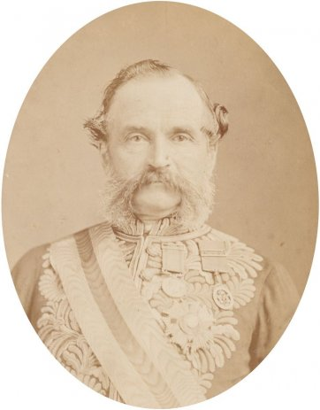 Sir William Francis Drummond Jervois, Governor of South Australia, 1881 by Solomon Studios