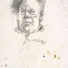 Study for portrait of Les Murray, 1995 by David Naseby