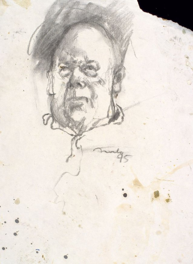 Study for portrait of Les Murray