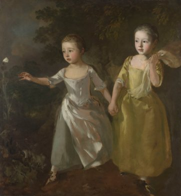 The Painter's Daughters Chasing a Butterfly, c.1756