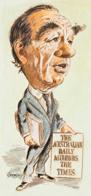 Rupert Murdoch, c. 1986 by Joe Greenberg