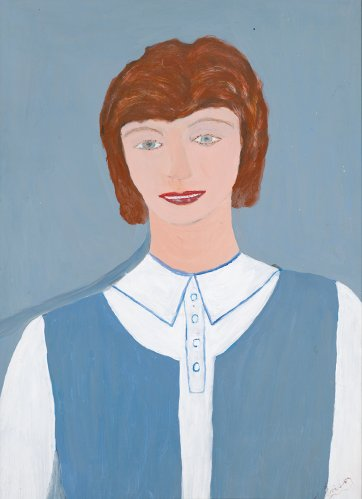 Untitled (girl in blue and white uniform) by Violet Frisby