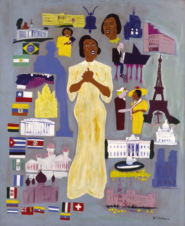 Marian Anderson, c. 1945 William Henry Johnson
