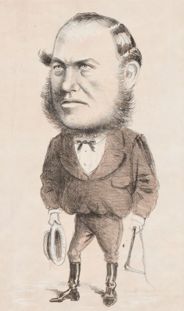 "The Member of the Upper House ""One of the Olden Time"" [The Hon. John Alston Wallace M.L.C.] from the series ""Masks and Faces"", 1874 by Tom Durkin, The Weekly Times"