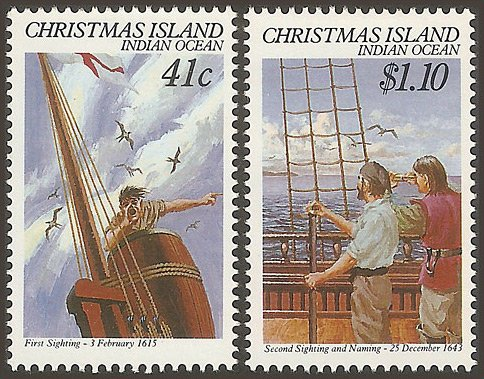 Christmas Island stamps, issued 1990