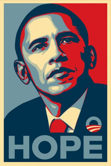Obama Hope, 2008 by Shepard Fairey