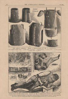 Ned Kelly's armour (from The Australasian Sketcher, 3 July 1880) Tom Carrington, The Australasian Sketcher