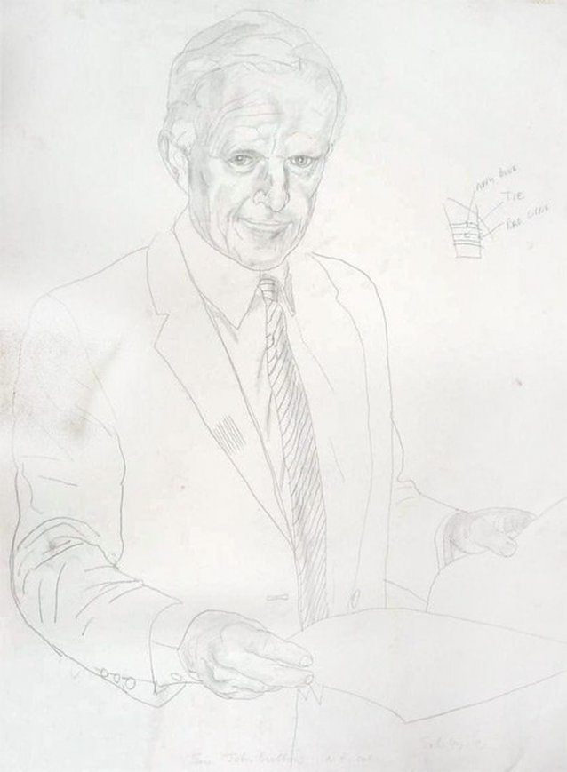 Study for portrait of Senator John Button