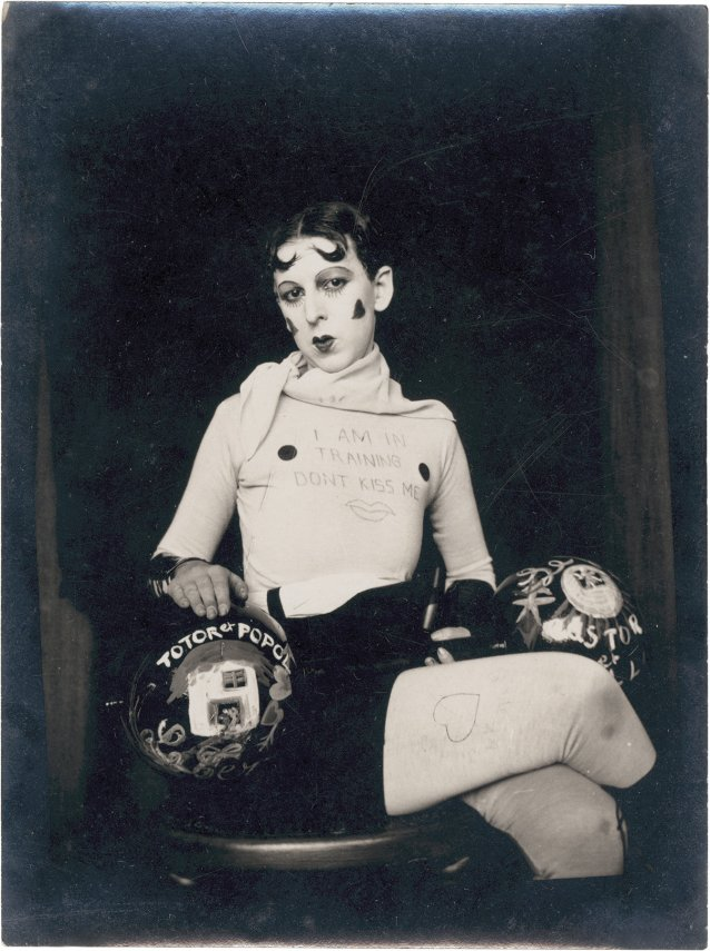 I am in training don't kiss me, 1927 by Claude Cahun (Lucy Schwob)