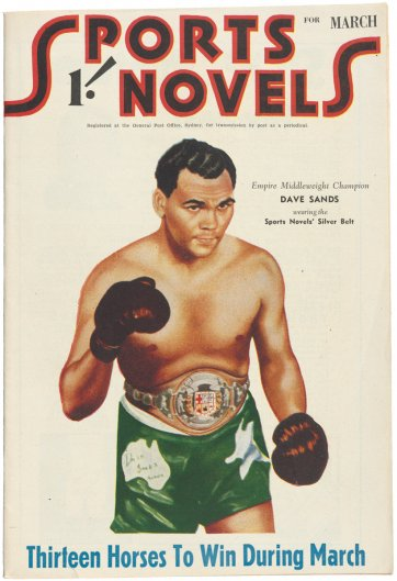 Dave Sands on the cover of Sports Novels, March 1950