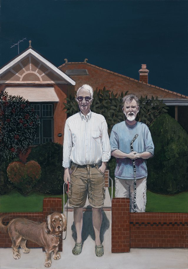Home Sweet Home (Peter Fay, Robin Evans and Milly), 2013 by Robyn Sweaney