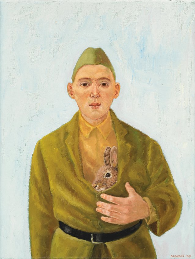Cadet with rabbit, 2009 by Graeme Drendel